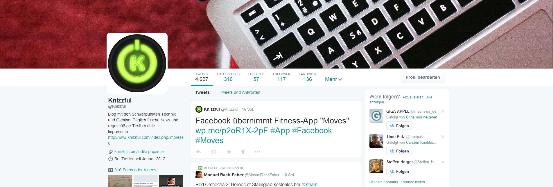 Neues Twitter Profil – Zeit für ein Impressum