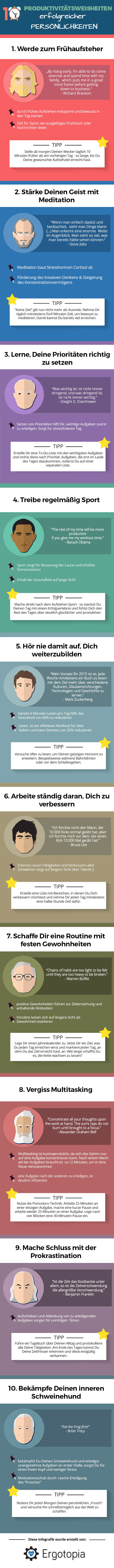Infografik: Produktivitaetsweisheiten