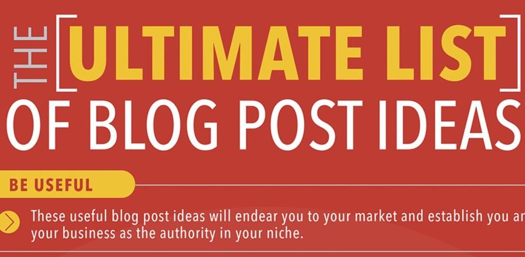 Infografik: 55 Ideen für Blogbeiträge