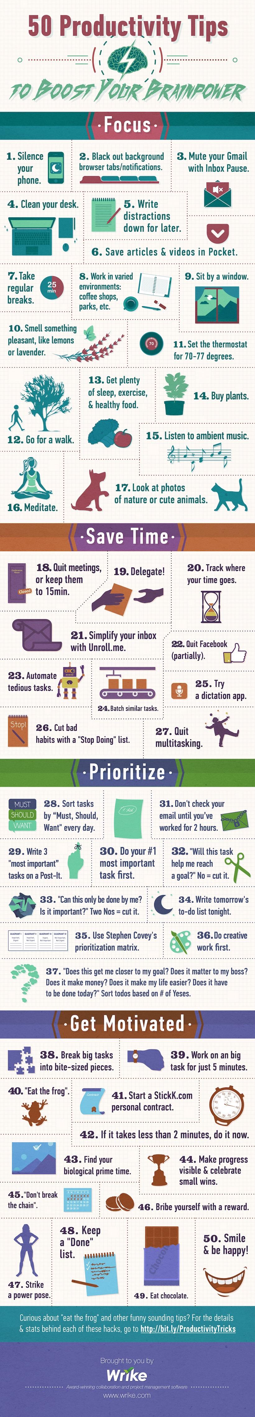 Infografik: Produktivitaets Tipps / Hacks